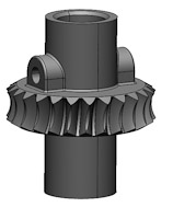 Dental gear CAD model
