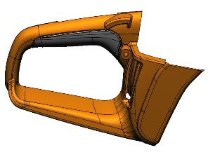 plastic part CAD